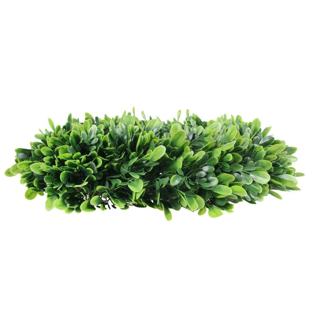 Artificial greenery wreaths decoration home plastic artificial boxwood garland wreath with preserved