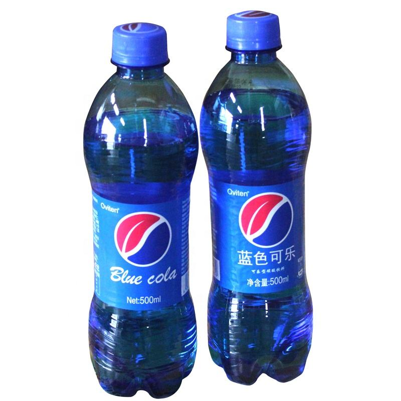 500ml bottle OEM fantastic taste blue cola caronated soft drink