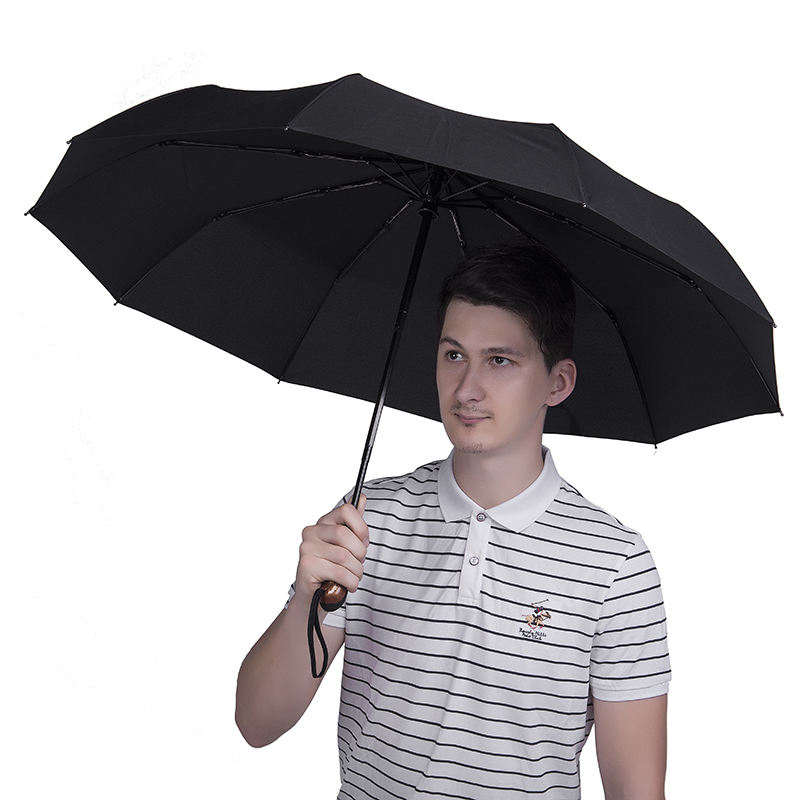Automatic Travel Umbrella Auto Open Close Compact Folding Rain Windproof JTS