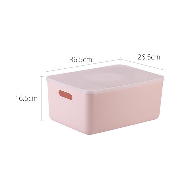 Pink Plastic Stackable Storage Box Lingerie Organizer middle size with handle