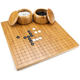 19x19inch Go Board with Reversible Bamboo and Includes Bowls and Bakelite Stones
