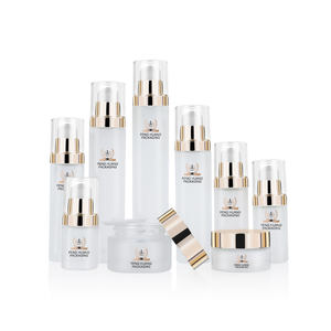 Luxury Empty Glass Cream Jar and Pump Spray Bottle Set Cosmetic Packaging Container