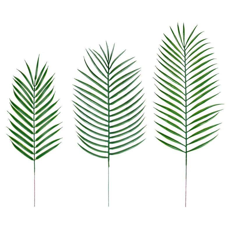 Amazon best seller plastic leaf large tree foliage artificial palm leaves