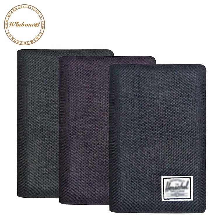 Pure color portfolio A4 A5 pu leather stationery multifunctional file card folder