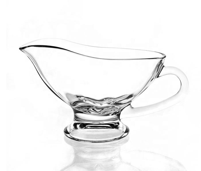 9oz 250ml gravy boat glass sauce boat