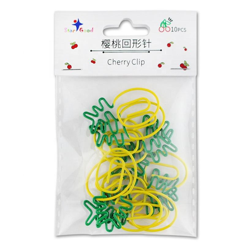 Custom fruit shape pineapple cherry paper clip