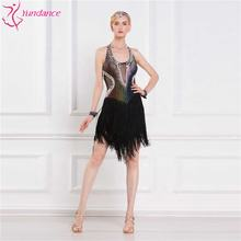 L-16183 New Women's kis stage costumes for Latin dance competition custom-made pure hand-fringed Hem Latin dance dress