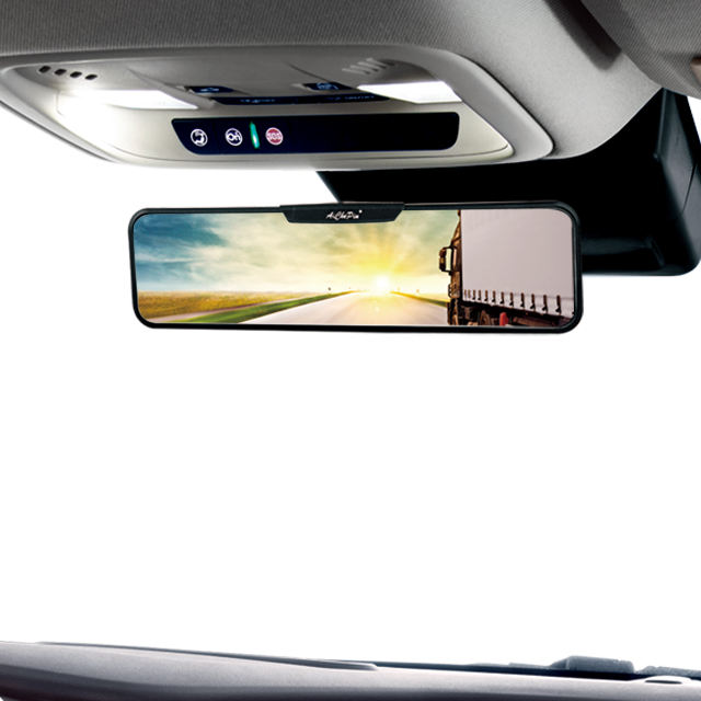 Universal Automobile Interior Protector Curved Panoramic Glass Car Drop Down Mirror