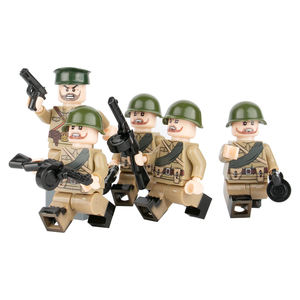 MOC military soldiers WW2 soviet officers army mini figures compatible with legoinglys