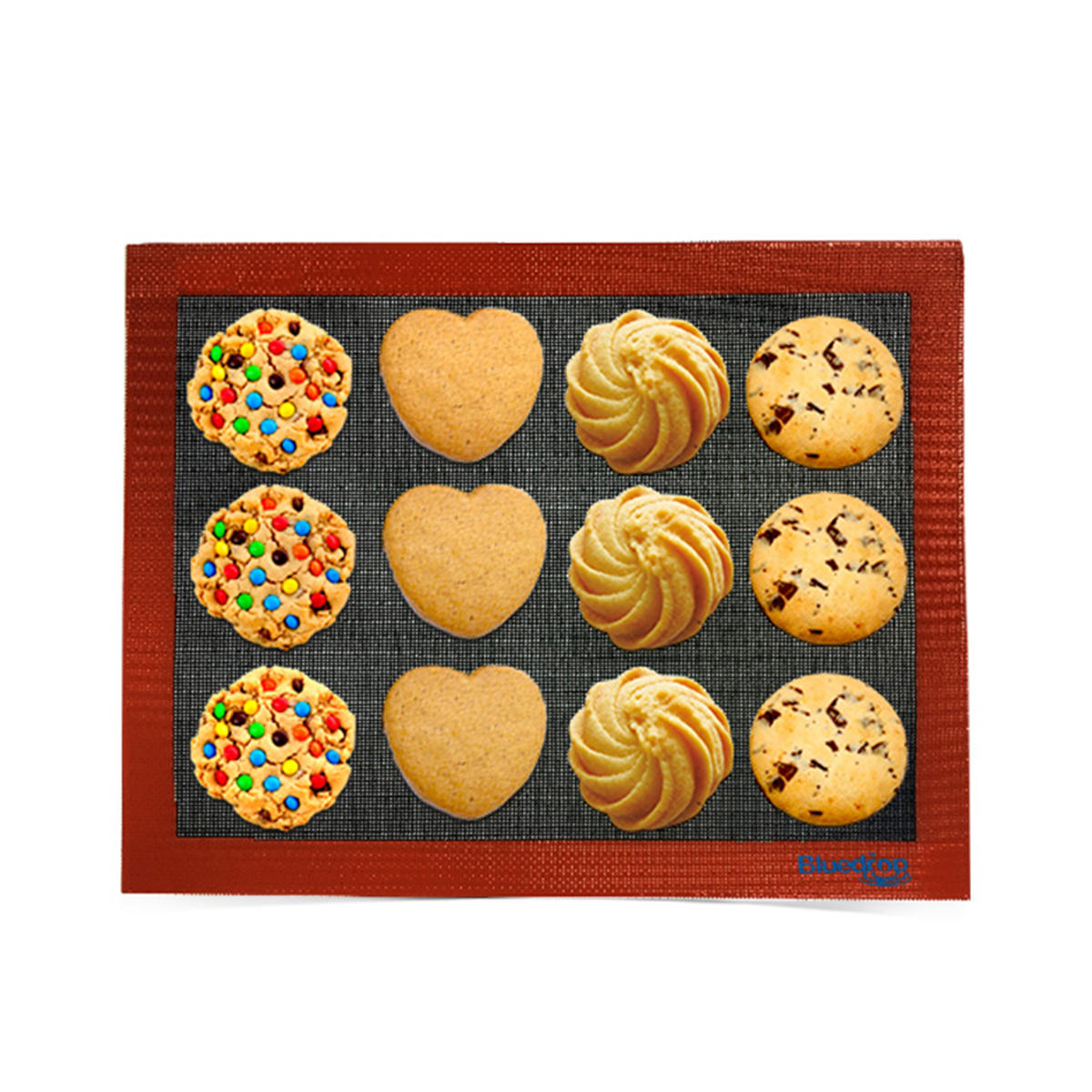 Excellent quality bakeware set of 3 liner silicon lace mat for cake pastry