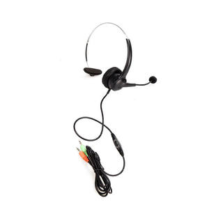 Monaural Volume Bisu Kontrol Kabel Headphone Call Center Telepon Headset