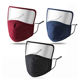 cloth fabric cotton Face Mask cover With Eye protective Shield