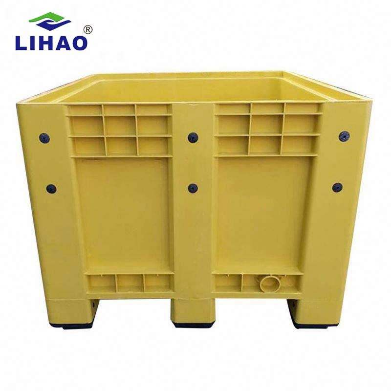 High quality 1200*1000mm durable stackable hdpe plastic pallet box for warehouse