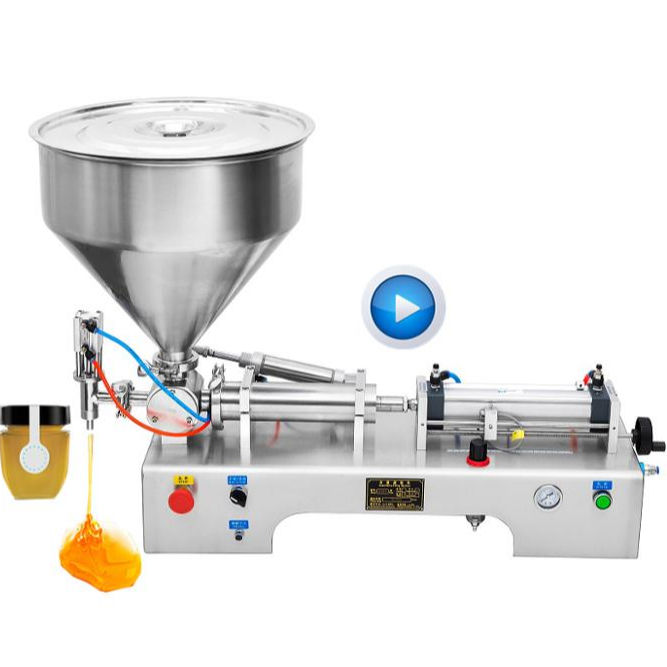 Bespacker semi - auto lotion bottle cosmetic filler water beverage honey cream piston paste liquid filling machine