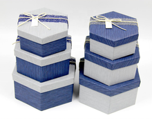 Low cost flat pack corrugated kraft paper a gift box wholesale a set of 3