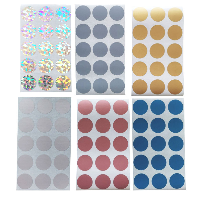 100 teile/paket Round Scrapbooking Labels Scratch Off Stickers Seven Options Paper Stationery Seal Sticker Creative etiketten und pack