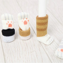 New design cute cat paw non  slip chair socks cover chair leg protector reliable furniture and floor protector door handle