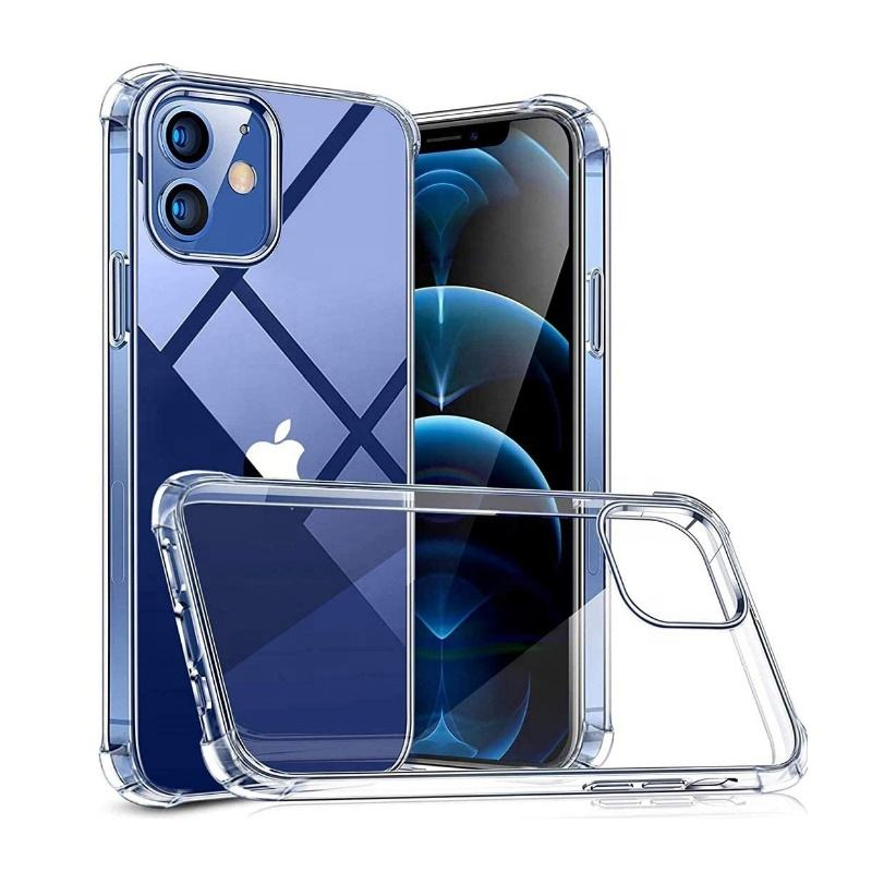 Voor Iphone 11 12 Pro Max Case Clear Tpu Transparant Schokbestendig Mobiel Siliconen Cover Voor Iphone 12 Mini Case