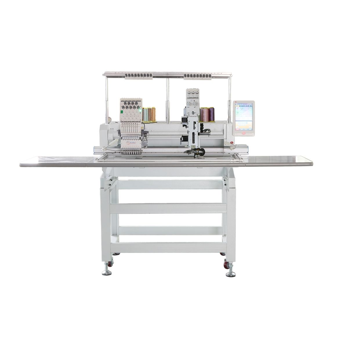 single head flat computerized embroidery machine for t-shirt /tape machine