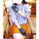 Real sheepskin gloves women driving in winter with thin mercerized screen, windproof and warm