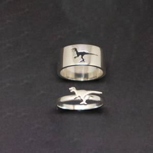 map double traveler ring for couple made of sterling silver 925  boho style