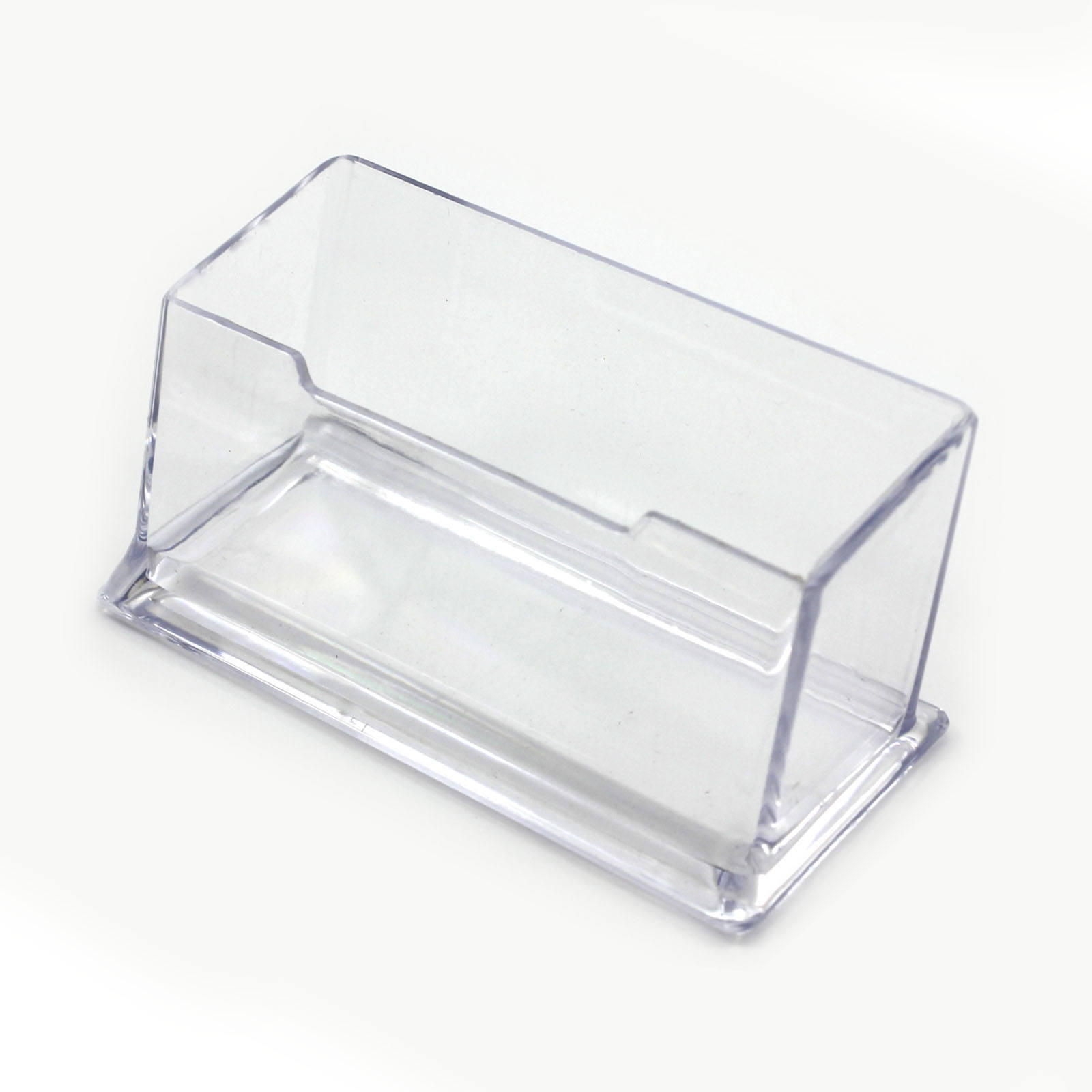 Nieuwe Clear Desk Plank Opbergbox Display Stand <span class=keywords><strong>Acryl</strong></span> Plastic Transparante Desktop Visitekaarthouder