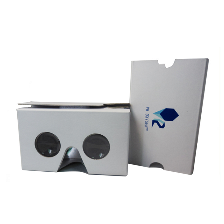 OEM Promotional Item with Logo Custom Branded Google Cardboard VR Glasses Headsets VR Viewer 3D Virtual Reality Video Glasses