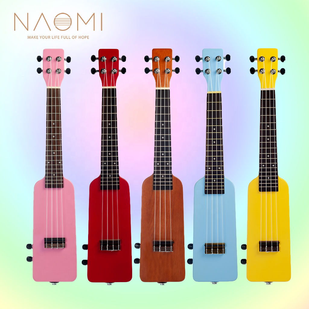 NAOMI 23 Inch Electric Ukulele 4 String Ukulele Kit Bottle Shape Uku Little Guitar