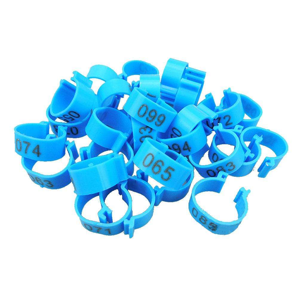 2020 100pcs/lot Chicken Leg Rings Poultry Ankle Bands Number Tag Markers for Birds Gamefowl Turkey Duck