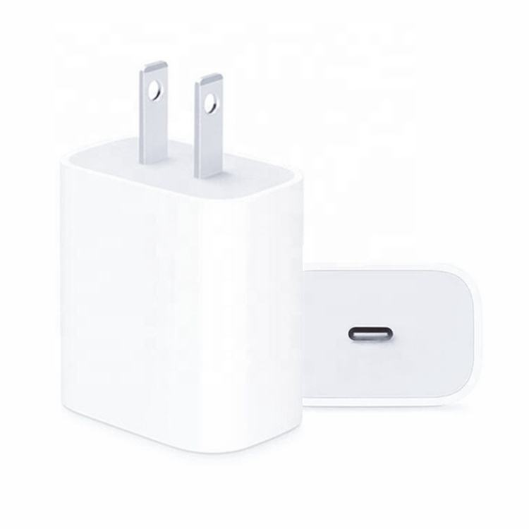 Adaptador de corriente PD 20w para iphone 12 max, USB-C inteligente rápido Original 1:1