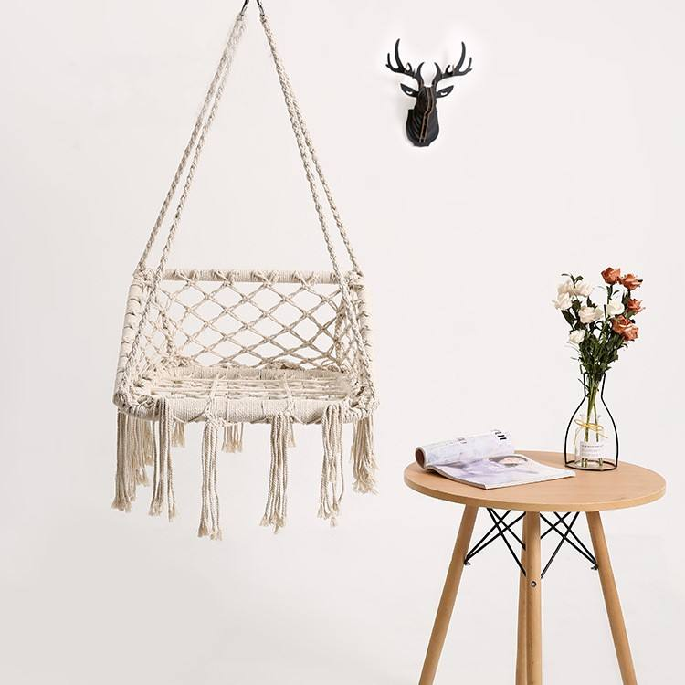 Children's square hanging chair B to B hanging basket Children's room decorative hammock Balcony hanging chair