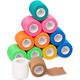 Wrap Bandages-Self Adhesive Non Woven Bandage Rolls - Multi Colored Neon Athletic Tape for Wrist - Breathable Athletic Tape