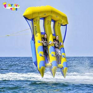 Hot selling 0.9mm PVC Tarpaulin Inflatable Water Fun Flying Fish Towables Fly Fish Tube Water Sports