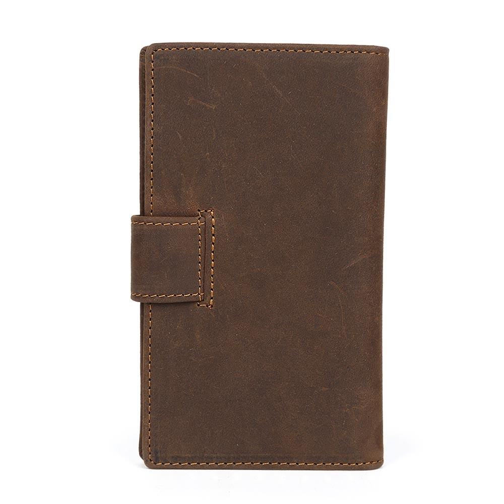 wholesale custom retro multi card pure cowhide large capacity business card case mulit funtion genuine leather cardholder set