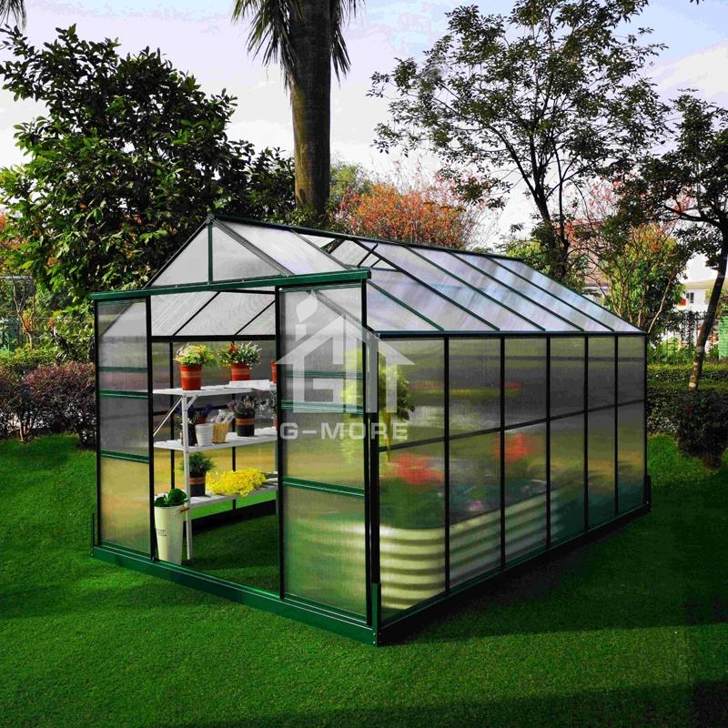 Wholesale outdoor cheap hobby agriculture polycarbonate aluminium garden greenhouse kits