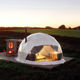 Winter Outdoor Luxury Igloo Geodesic Glamping Clear Dome House Tent With Fireplace Insulation