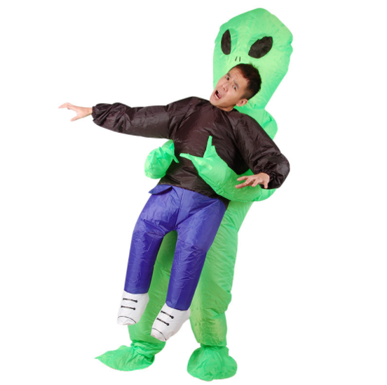 Guangzhou Wholesale Customized adult size inflatable Alien catching people costume for party