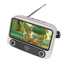 New innovative retro portable mini-TV mobile phone bracket TV wireless speaker radio card sound