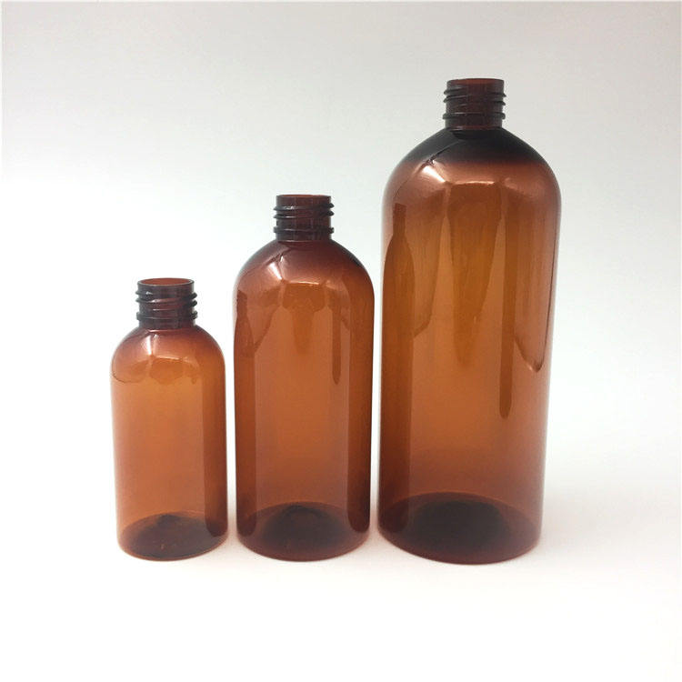 Empty 500ml brown hand lotion bottle in stock