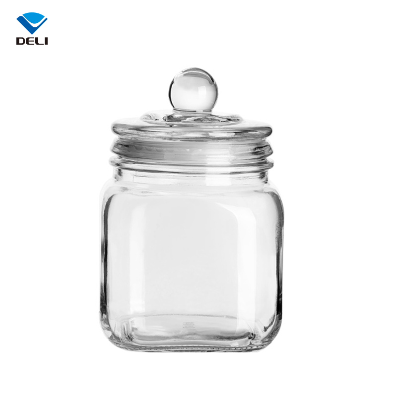 Fair Price 750ml 25.36oz Round Luxury Large Wine Honey Cookie Container Seals Glass Jar with Lid