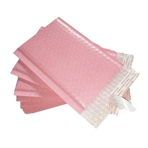 Self seal pink bubble wrap poly mailer bag mailers with bubble