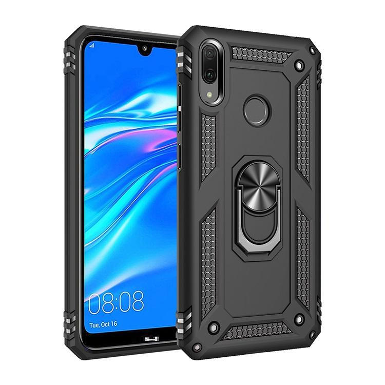 Shockproof Cincin Pemegang TPU Armor PC Mobile Phone Back Cover Case untuk Huawei Y5 Y6 Y7 Pro Perdana <span class=keywords><strong>2019</strong></span> 2018 <span class=keywords><strong>P</strong></span> <span class=keywords><strong>Smart</strong></span> Z Y9 Prime <span class=keywords><strong>2019</strong></span>