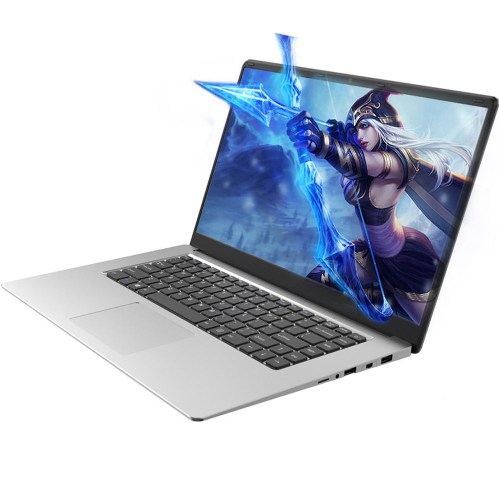 15.6 ''Slim Laptop <span class=keywords><strong>Netbook</strong></span> Prosesor Intel Celeron J4125 Quad Core 8GB RAM Opsional Hard Disk Windows 10 Ultra Pesan dengan RJ45