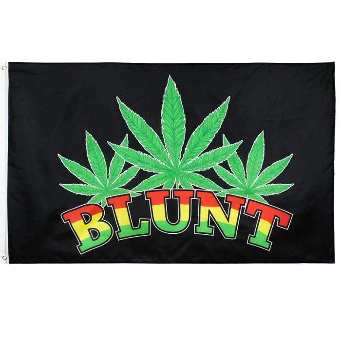 3x5ft 90*150cm Bar Party Music Festival Weed Leaf Blunt Flag