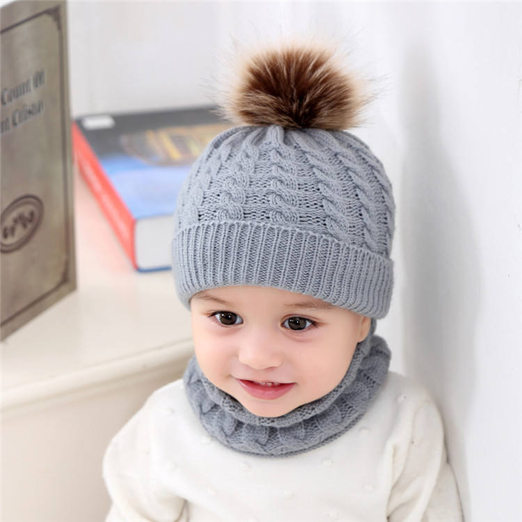 Winter acrylic private label hat sport children baby winter hat and scarf set