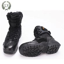 Army Jungle Black Leather Tactical Combat Military Boot