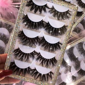 Wholesale comfortable private label eye lashes 3d mink 25mm false strip eyelashes with customize own brand box