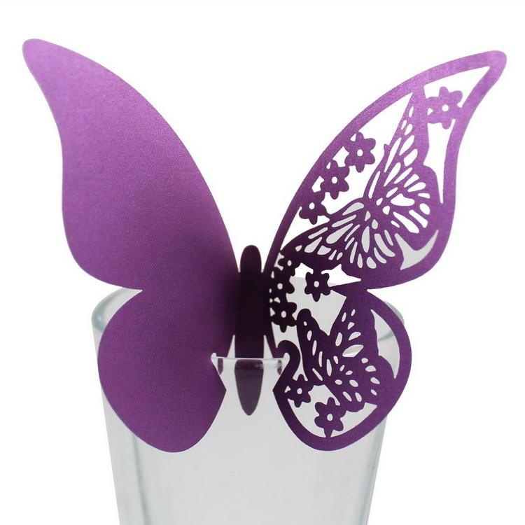 Butterfly Laser Cut Place Table Card Name Cards Paper Party Supplies Decoration