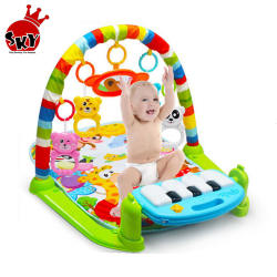Hot amazon soft light baby gym toy play mat toy early educat