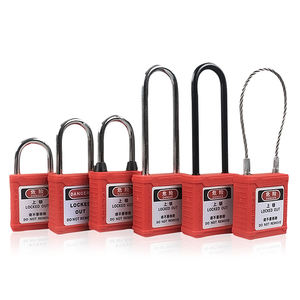 38MM Steel Shackle Safety Padlock with master keys for Industrial equipment lock out